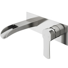 VIGO VG05004BN Cornelius Wall Mount Bathroom Faucet In Brushed Nickel