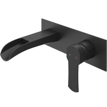 VIGO VG05004MB Cornelius Wall Mount Bathroom Faucet In Matte Black