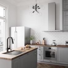 VIGO VG02008MBK2 Gramercy Pull-Down Kitchen Faucet With Soap Dispenser In Matte Black
