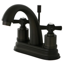 Kingston Brass KS8615ZX Two Handle Centerset Lavatory Faucet - Oil Rubbed Bronze
