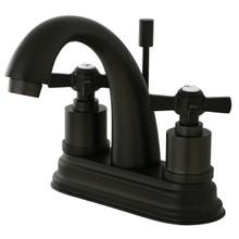 Kingston Brass KS8615ZX Two Handle Centerset Lavatory Faucet - Oil Rubbed Bronze