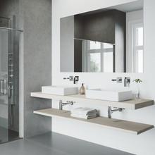VIGO VG05005CH Atticus Single Handle Wall Mount Bathroom Faucet In Chrome