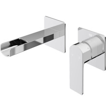 VIGO VG05005CH Atticus Single Handle Wall Mount Bathroom Faucet In Chrome