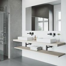VIGO VG05005MB Atticus Single Handle Wall Mount Bathroom Faucet In Matte Black