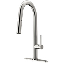 VIGO VG02029STK1 Greenwich Pull-Down Spray Kitchen Faucet With Deck Plate In Stainless Steel