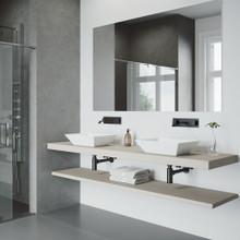 VIGO VG05002MB Titus Wall Mount Bathroom Faucet In Matte Black , Single Handle