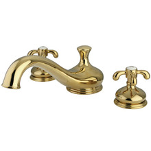 Kingston Brass Two Handle Roman Tub Filler Faucet - Polished Brass KS3332TX
