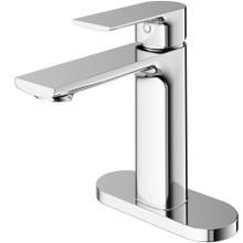 VIGO VG01043CHK1 Davidson Single Hole Bathroom Faucet with Deck Plate in Chrome