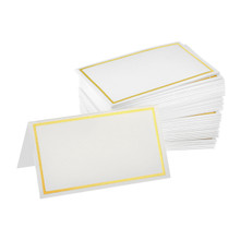 Alpine 493-01-GLD Place Cards with Gold Border 2'' x 3.5'' - Pack of 100