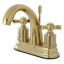 Kingston Brass KS8612ZX Two Handle Centerset Lavatory Faucet - Polished Brass