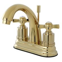 Kingston Brass KS8612ZX Two Handle Centerset Lavatory Faucet - Polished Brass