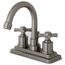 Kingston Brass KS8668ZX Two Handle Centerset Lavatory Faucet - Satin Nickel