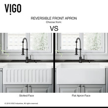 "VIGO VGRA3018CS 30"" Matte Stone Farmhouse Kitchen Sink"