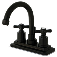 Kingston Brass KS8665ZX Two Handle Centerset Lavatory Faucet - Oil Rubbed Bronze
