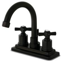 Kingston Brass KS8665ZX Two Handle Centerset Lavatory Faucet - Oil Rubbed Bronze