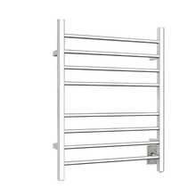WarmlyYours TW-SR-08PS-HW Towel Warmer Sierra Square 8-Bars - Polished Stainless Steel