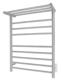 WarmlyYours TWS1-HRN08BH Huron Towel Warmer, Hardwired, 8 bars - Brushed Stainless Steel