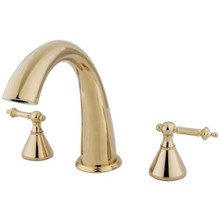 Kingston Brass Two Handle Roman Tub Filler Faucet - Polished Brass KS2362TL