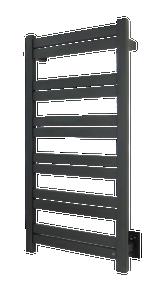 WarmlyYours TWS6-GRD12KH Grande 12 Towel Warmer, Hardwired, 12 bars - Black
