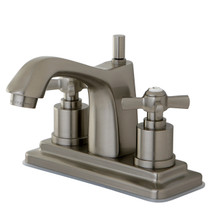 Kingston Brass KS8648ZX Two Handle Centerset Lavatory Faucet - Satin Nickel