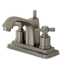 Kingston Brass KS8648ZX Two Handle Centerset Lavatory Faucet - Satin Nickel