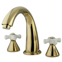 Kingston Brass Two Handle Roman Tub Filler Faucet - Polished Brass KS2362PX