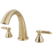 Kingston Brass Two Handle Roman Tub Filler Faucet - Polished Brass KS2362GL