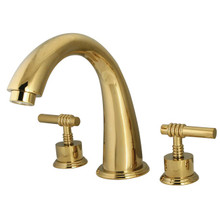 Kingston Brass Two Handle Roman Tub Filler Faucet - Polished Brass KS2362ML