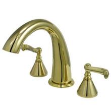 Kingston Brass Two Handle Roman Tub Filler Faucet - Polished Brass KS2362FL