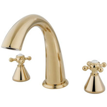Kingston Brass Two Handle Roman Tub Filler Faucet - Polished Brass KS2362BX