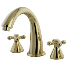 Kingston Brass Two Handle Roman Tub Filler Faucet - Polished Brass KS2362AX