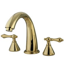 Kingston Brass Two Handle Roman Tub Filler Faucet - Polished Brass KS2362AL