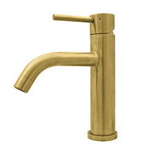 Whitehaus WHS8601-SB-B Waterhaus  Solid Stainless Steel Single Lever Elevated Lavatory Faucet - Brass