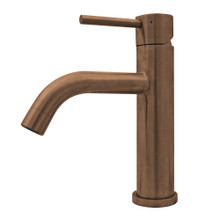 Whitehaus WHS8601-SB-CO Waterhaus  Solid Stainless Steel Single Lever Elevated Lavatory Faucet - Copper