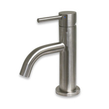 Whitehaus WHS1010-SB-BSS Waterhaus Single Lever Small Lavatory Faucet - Brushed Stainless Steel