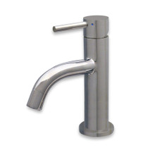 Whitehaus WHS1010-SB-PSS Waterhaus Single Lever Small Lavatory Faucet - Polished Stainless Steel