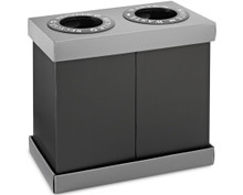Alpine 471-02-BLK 28-Gallon Recycling Indoor Waste Bin - Black