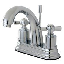 Kingston Brass KS8611ZX Two Handle Centerset Lavatory Faucet - Polished Chrome