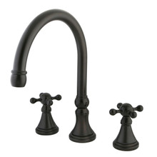Kingston Brass Two Handle Roman Tub Filler Faucet - Oil Rubbed Bronze KS2345KX