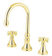 Kingston Brass Two Handle Roman Tub Filler Faucet - Polished Brass KS2342KX