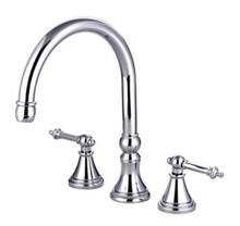 Kingston Brass Two Handle Roman Tub Filler Faucet - Polished Chrome KS2341TL