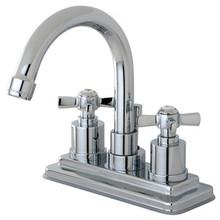 Kingston Brass KS8661ZX Two Handle Centerset Lavatory Faucet - Polished Chrome