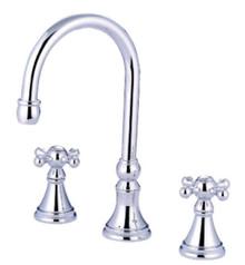 Kingston Brass Two Handle Roman Tub Filler Faucet - Polished Chrome KS2341KX