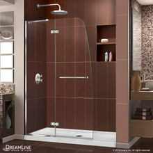DreamLine Aqua Ultra 45 in. W x 72 in. H Frameless Hinged Shower Door in Chrome