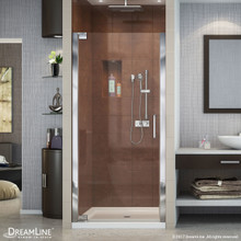 DreamLine Elegance 35 3/4 - 37 3/4 in. W x 72 in. H Frameless Pivot Shower Door in Chrome