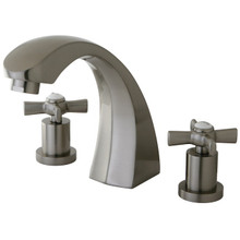 Kingston Brass Two Handle Roman Tub Filler Faucet - Satin Nickel KS4368ZX
