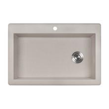 Ruvati 33 x 22 inch epiGranite Dual-Mount Granite Composite Single Bowl Kitchen Sink - Caribbean Sand - RVG1033CS
