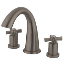 Kingston Brass Two Handle Roman Tub Filler Faucet - Satin Nickel