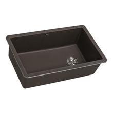 Ruvati 31 x 19 inch epiGranite Undermount Granite Composite Single Bowl Kitchen Sink - Espresso Brown - RVG2033ES