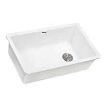 Ruvati 31 x 19 inch epiGranite Undermount Granite Composite Single Bowl Kitchen Sink - Arctic White - RVG2033WH